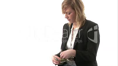 A business woman with Money