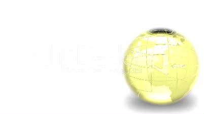 Glass Spinning Globe
