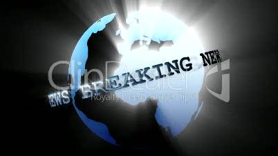 News Broadcast Globe Seamless