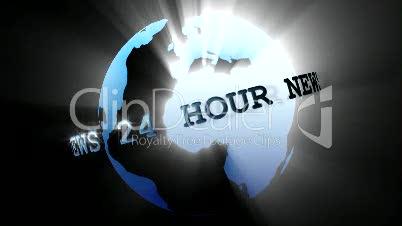 News Broadcast Globe Seamless 3