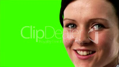 Green Screen Footage of a Businesswoman