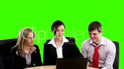Chroma key Business footage 5