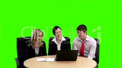 Chroma key Business footage 4