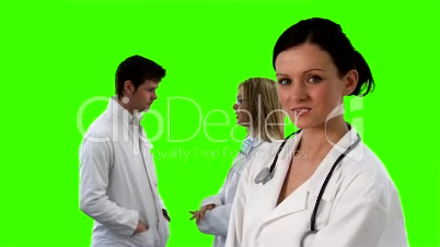 Green Screen Footage of a medical Team 6