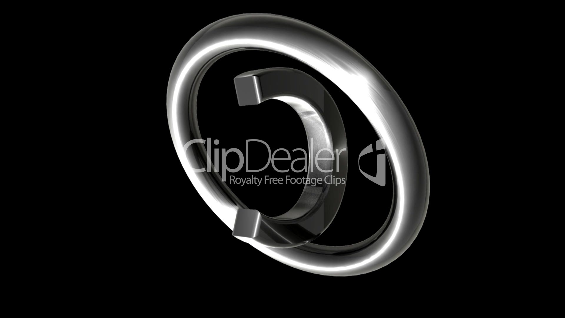 Metallisches Copyright Symbol Loop Royalty Free Video And Stock Footage