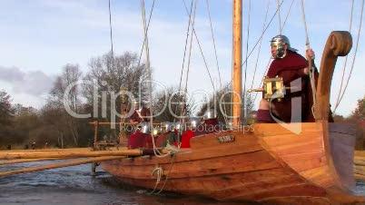 Römerschiff Victoria auf Fahrt