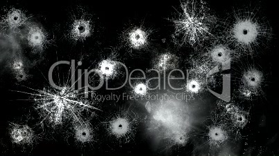 Gun shots in Glass