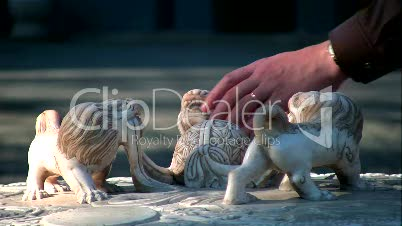 Lions & hand