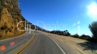Landstraße im Zeitraffer