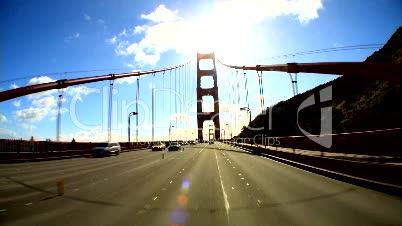 Fahrt über Golden Gate Bridge