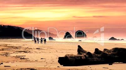Strand mit Sonnenuntergang