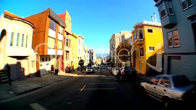 Fahrt durch eine Stadt