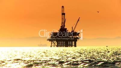 Ölplattform im Meer