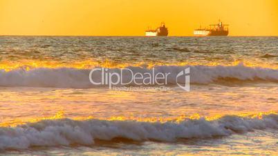 Zwei Öltanker im Meer