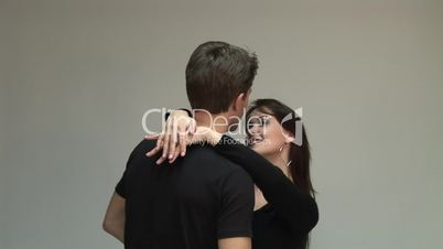 HD1080i Young attractive couple dancing