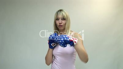 HD1080i Young blond attractive woman