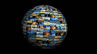 Rotierender Globus aus Bildern
