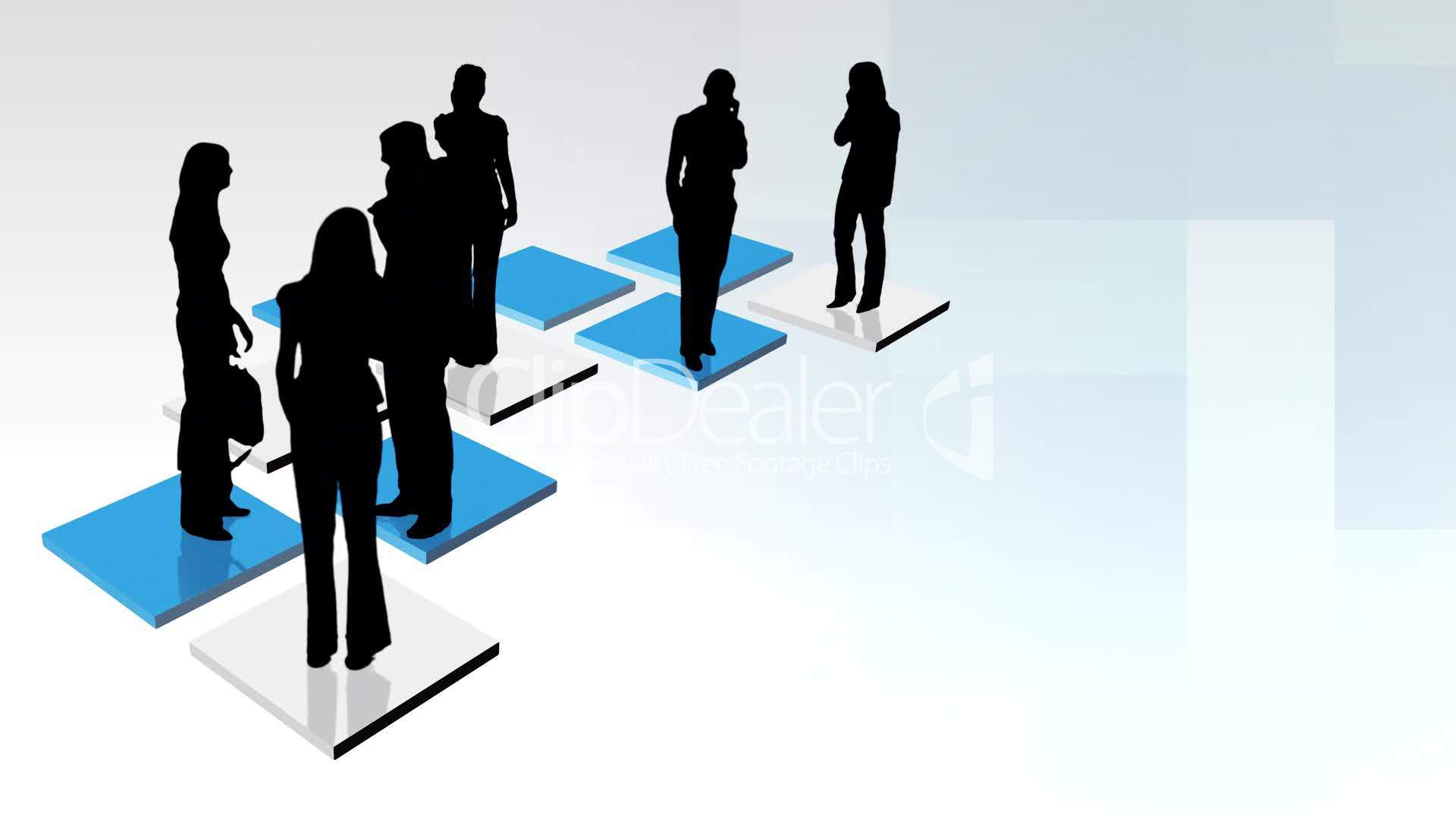 Abstract Business Team Animation Royalty Free Video And
