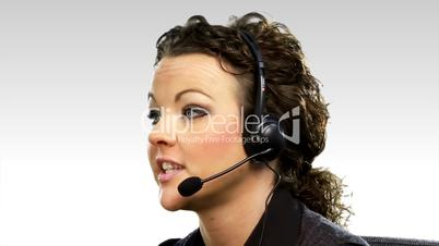 Business woman on Helpdesk 2