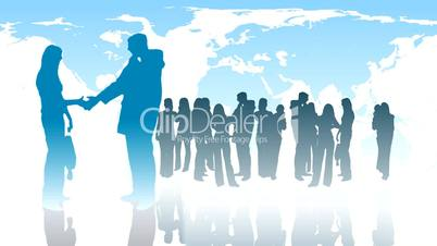 Sihouetted of Business People -3