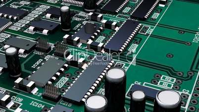 Moving though a circuit board