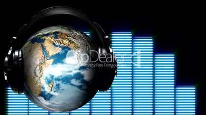 Concept animation of world Music