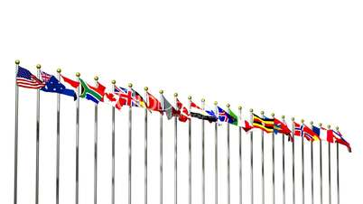 World Flags on White HD1080