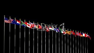 World Flags on Black HD1080