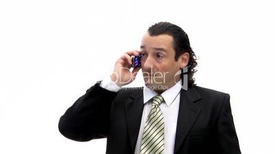 Phone conversation.