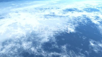 Earths atmosphere with sun flare