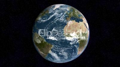 Realistische Erde rotiert in Endlosschleife