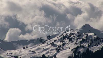 Zeitraffer Wolken Gebirge