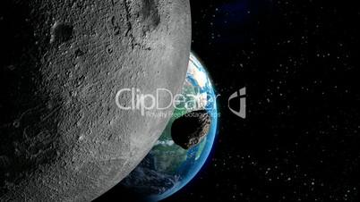 Meteor Impacting Earth HD1080