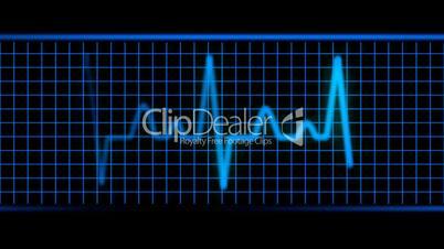 Blue EKG Heart Beat HD1080