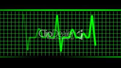Green EKG Heart Beat HD1080 Loopable