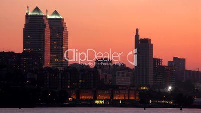 Night  city. Time-Lapse.