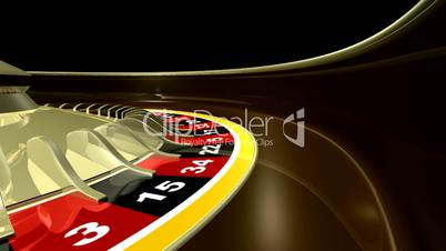Roulette Wheel Close Up HD1080 Loopable