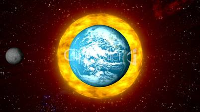 Solar Cosmos with Burning Sun HD1080