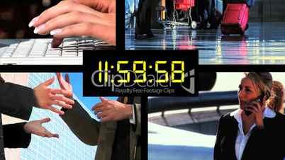 Countdown mit Businessbildern