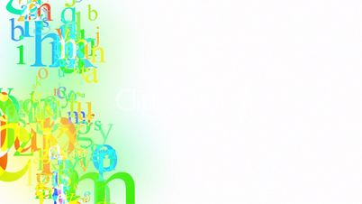 alphabet on white loop