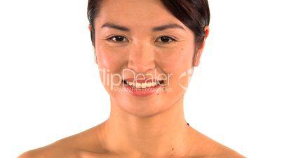 Luftkuss von einer Frau