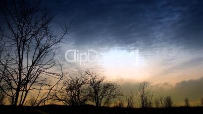 time lapse of running clouds.