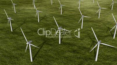 Wind Turbine Aerial View HD1080 Loopable