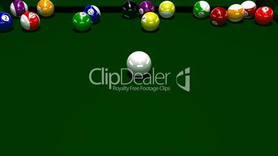 Pool Balls Rolling HD1080