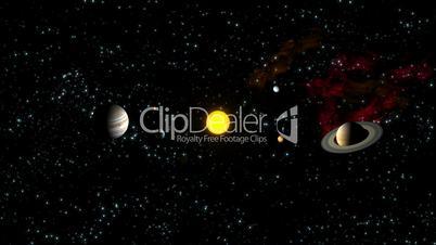 Planets Orbiting Sun HD1080 Loopable