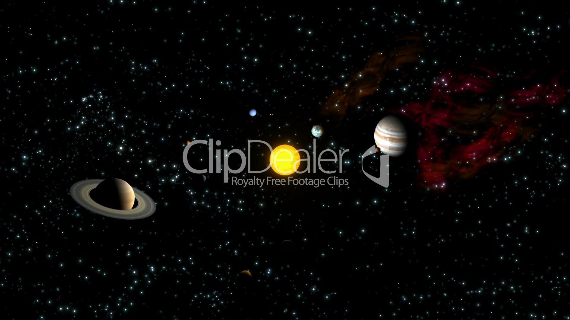Planets Orbiting Sun HD1080 Loopable: Royalty-free video ...