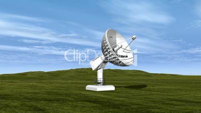 Dish Sending Signal to Satellite HD1080