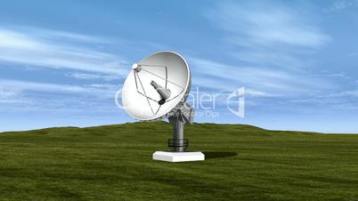 Satellite Dish Spinning Loopable HD1080
