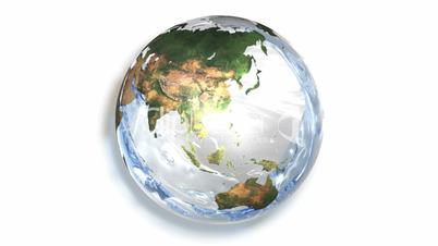 Earth filling with Water HD1080