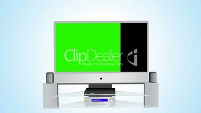 Entertainment Center with Green Screen HD1080